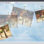 Der Bewegungspfad vergrößert, verkleinert, dreht und verschiebt Fotos auf dem Bildschirm