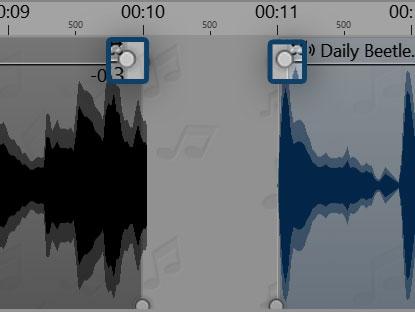 Audiopunkte Crossfading