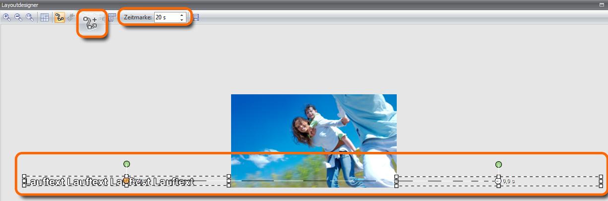 Bewegungpfad für den Lauftext erstellen (klicken Sie auf das Bild, um die Ansicht zu vergrößern)
