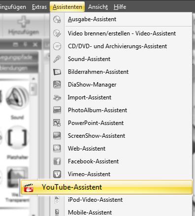 YouTube-Assistent in der DiaShow