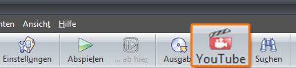 Assistent für Youtube in der Toolbar