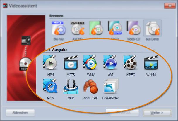 Video erstellen mit dem Video-Assistenten der DiaShow