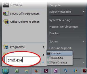 Windows Eingabeaufforderung starten