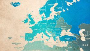 In blau markierten Ländern haben wir Kunden