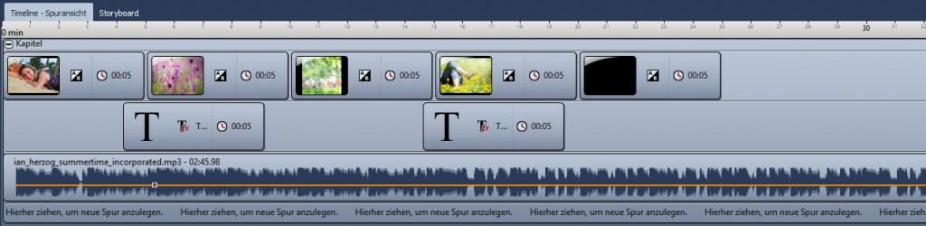 Sound-Objekt mit Musik in einem Kapitel