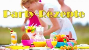 Schriftzug Party-Rezepte