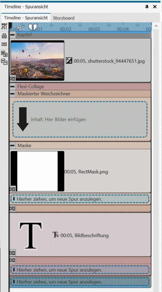 Aufbau der Bauchbinde mit Blur - ein Klick auf das Bild vergrößert die Ansicht.