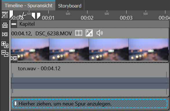 Soundspur unter Video