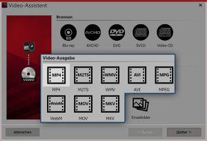 Videoerzeugung-Dialogfenster