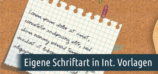 Eigene Scriftart in Intelligenter Vorlage