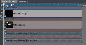Weltkugel animieren - Aufbau Timeline