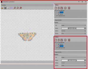 Bildeditor-Effekte für Text-Objekt 1