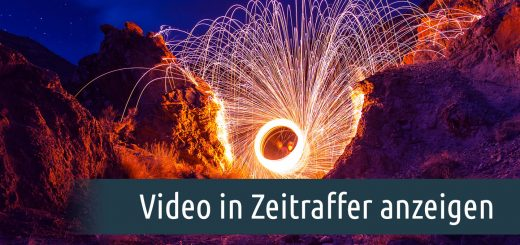 Video in Zeitraffer anzeigen