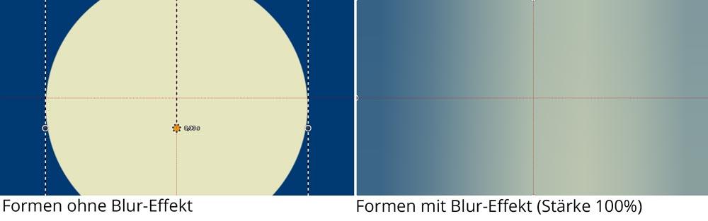 Formen in Blur-Effekt für animierten Farbverlauf