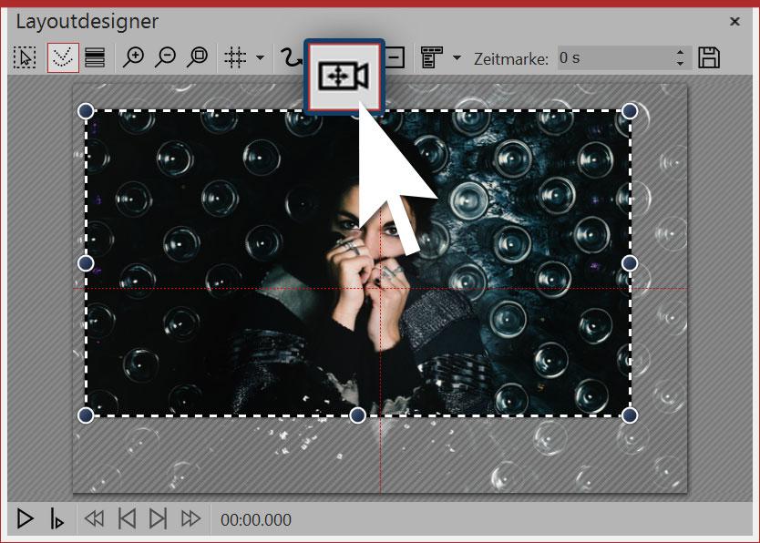 Symbol für Kameraschwenk/Zoom