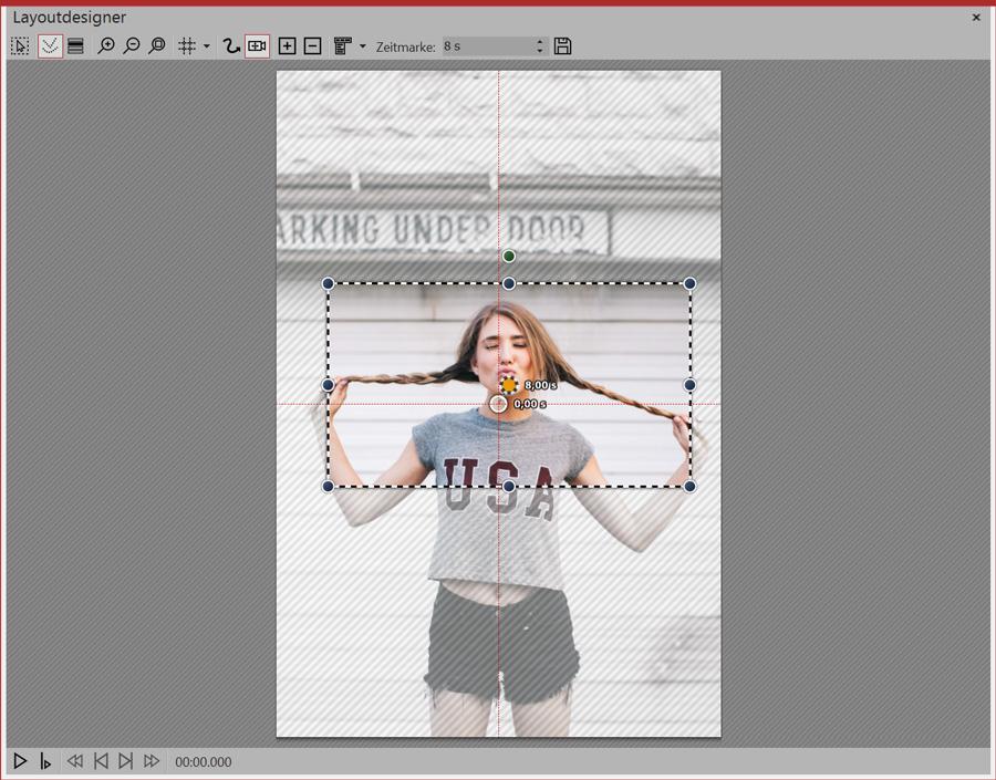 Zoom auf Gesicht bei Hochkantbild