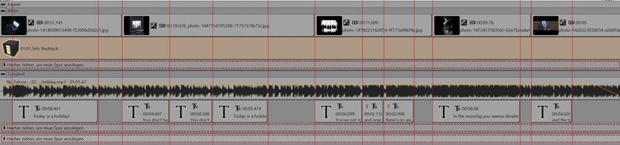 Bilder werden passend zum Songtext angezeigt, fertig ist das Musikvideo.