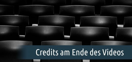 Credits am Ende des Videos