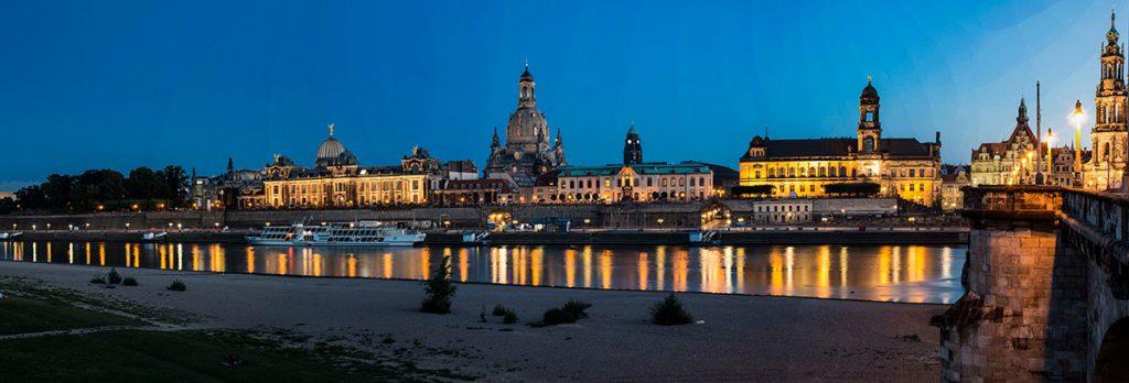 Urlaubs-DiaShow: Dresden bei Nacht. Foto: Franz Lechner