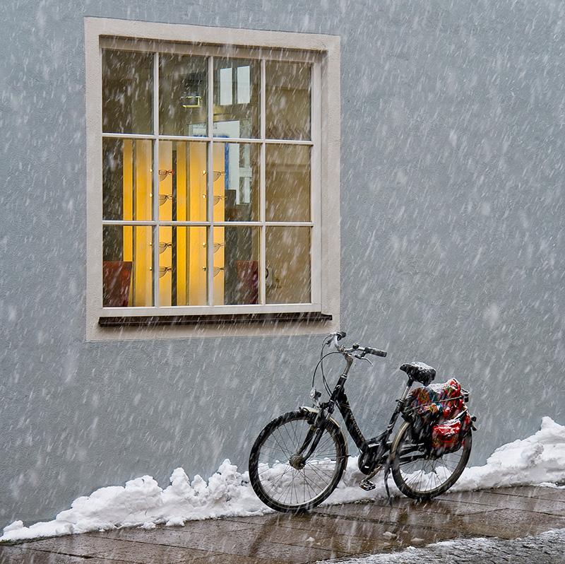 Fotos bei schlechtem Wetter: Schneegestöber. Foto: Franz Lechner
