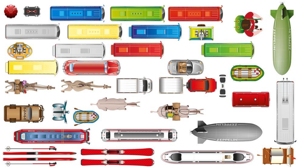 """Neue Fahrzeuge aus dem Paket """"Unterwegs"""""""