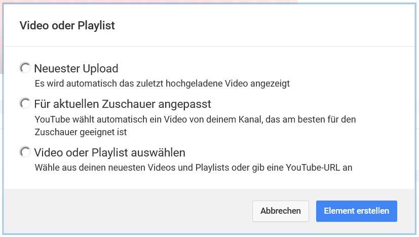 Die Videos auf der Endcard können variable sein, es muss nicht jeder den gleichen Inhalt sehen