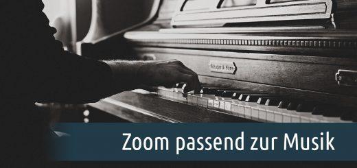 Zoom passend zur Musik