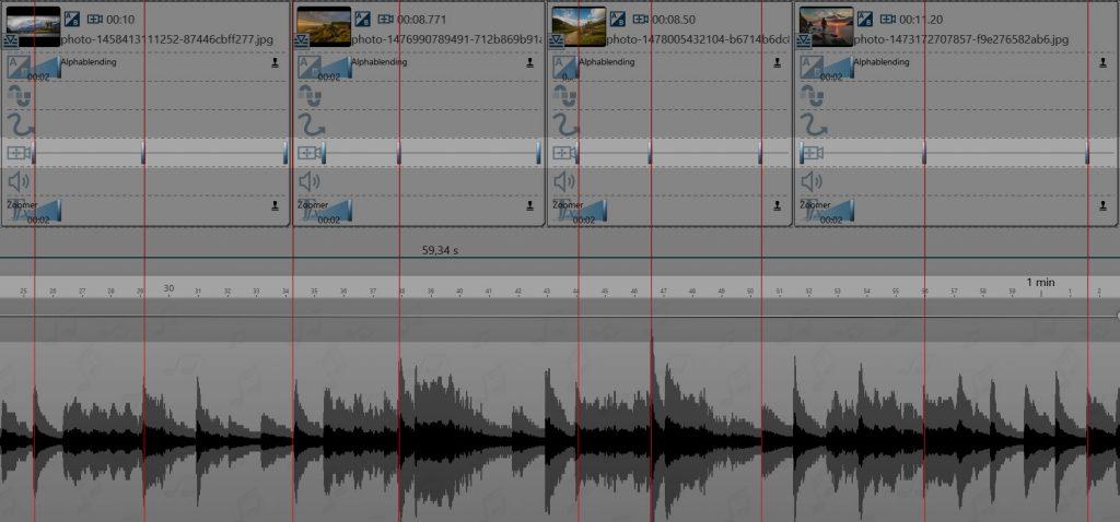 Zoom passend zur Musik einstellen