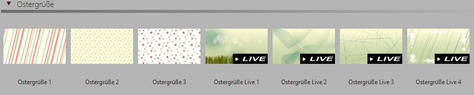 Live-Hintergründe in der Toolbox