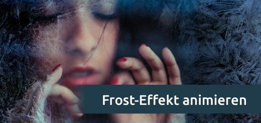 Animierter Frost auf einem Foto