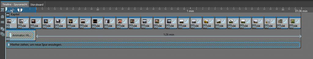 Musikvideo erstellen - Timelineansicht mit Animator