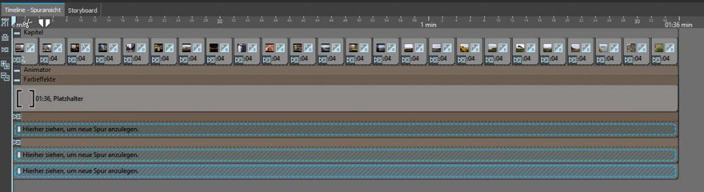 Musikvideo erstellen - Timelineansicht mit Animator und Farbeffekt