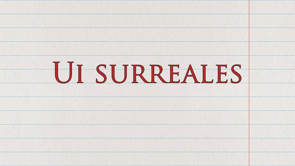 "Textanimation erstellen - ""Ui Surreales""-Buchstabensalat"