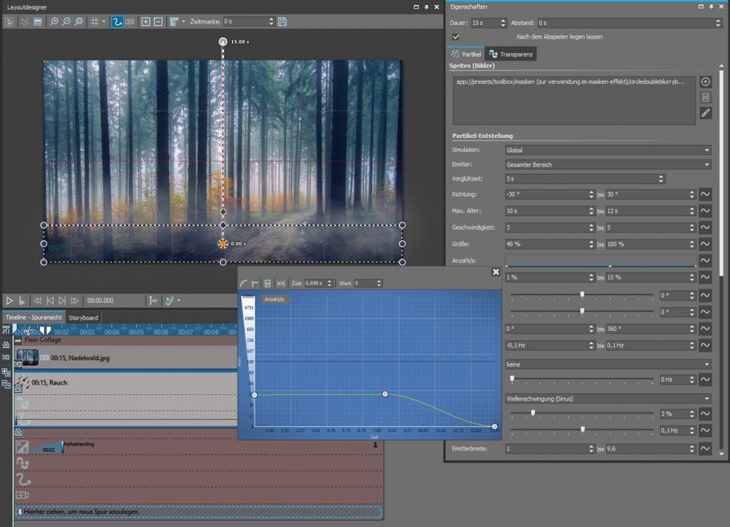 Nebel-Effekt animieren: Aufbau aufsteigender Nebel im Wald