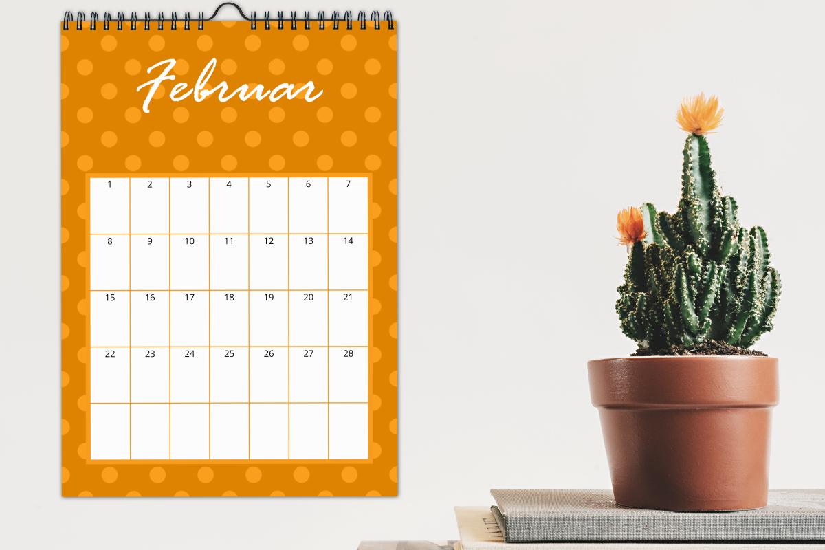 Grafische Kalender passend zur Lieblingsfarbe