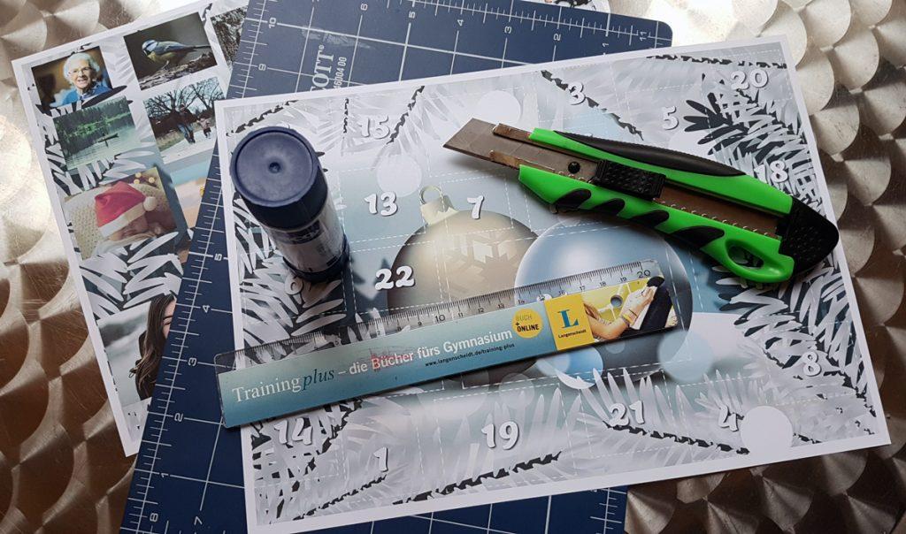 Adventskalender mit Fotos selbst gestalten: Das braucht man zum Basteln
