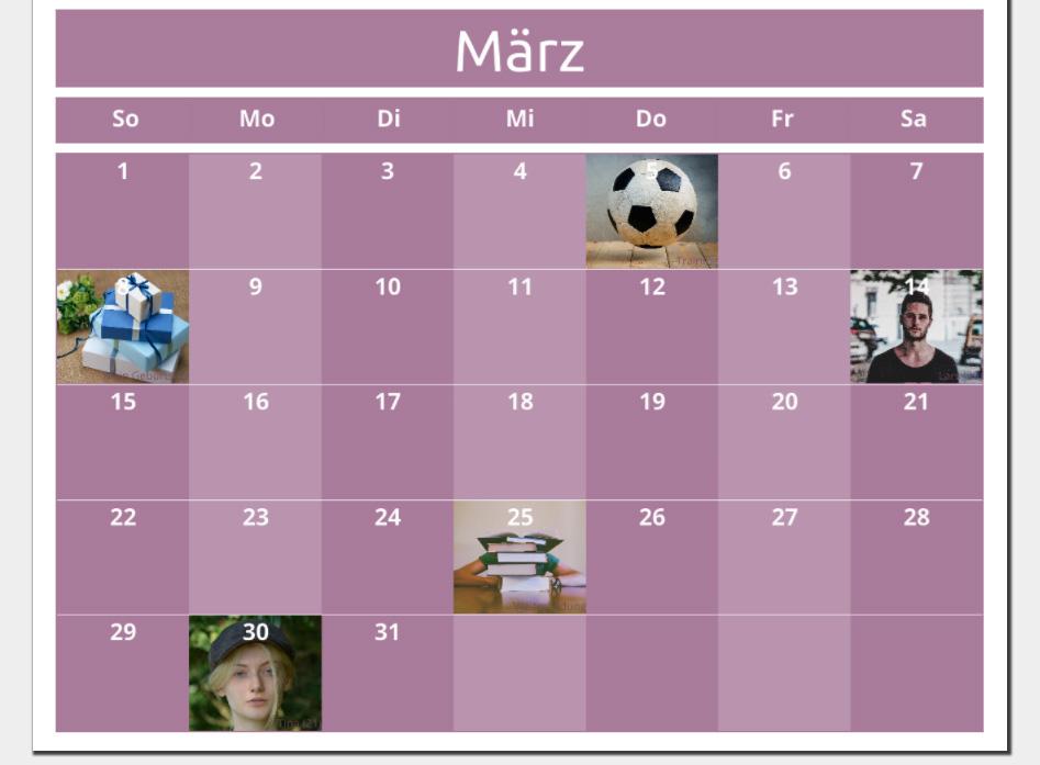 Fotokalender erstellen: Eigene Termine mit Bild