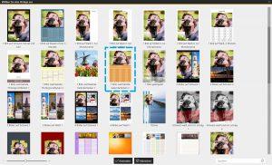 Fotokalender erstellen mit Terminen: Vorlage wählen