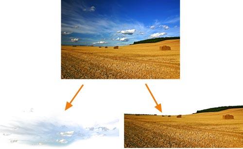 Freistellen der einzelnen Ebenen eines Bildes