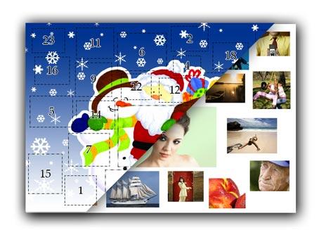 Adventskalender mit eigenen Fotos