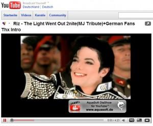 Michael Jackson mit AquaSoft DiaShow für YouTube