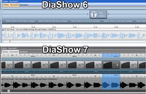 Unterschiede in der Timeline zwischen DiaShow 6 und 7